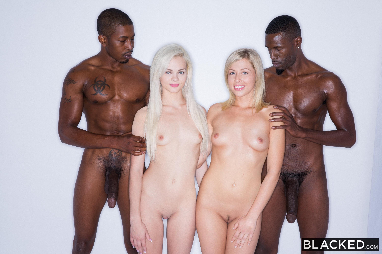 Blonde Babes Enjoy BBC Foursome - Elsa Jean & Zoey Monroe