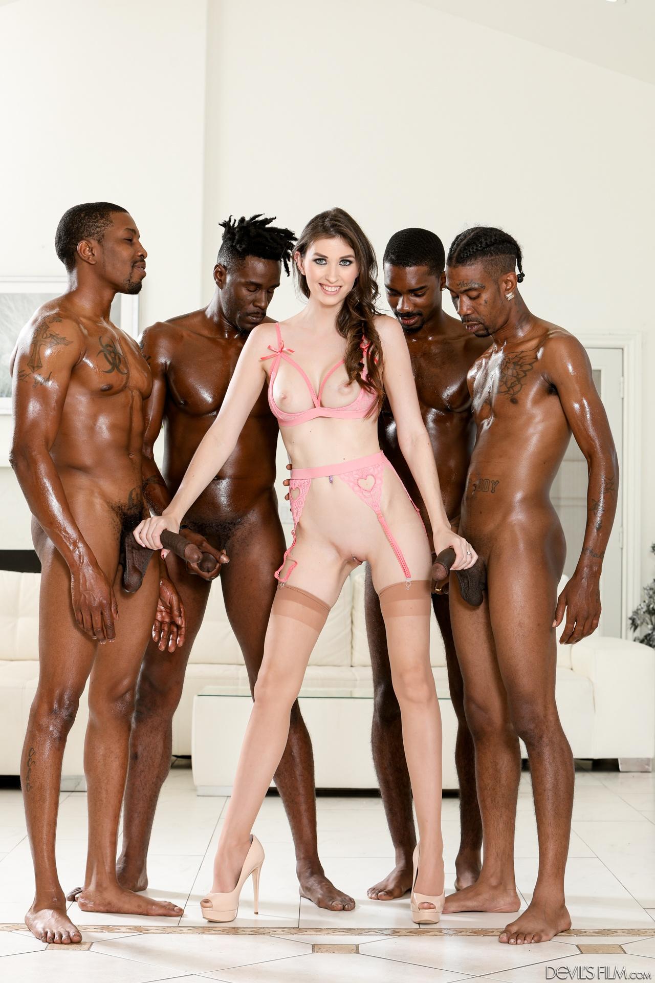 Angelina Diamanti, Jason Brown, Isiah Maxwell, Slim Poke, Rod Hardman - Angelina Diamanti Gangbang - Devil's Film