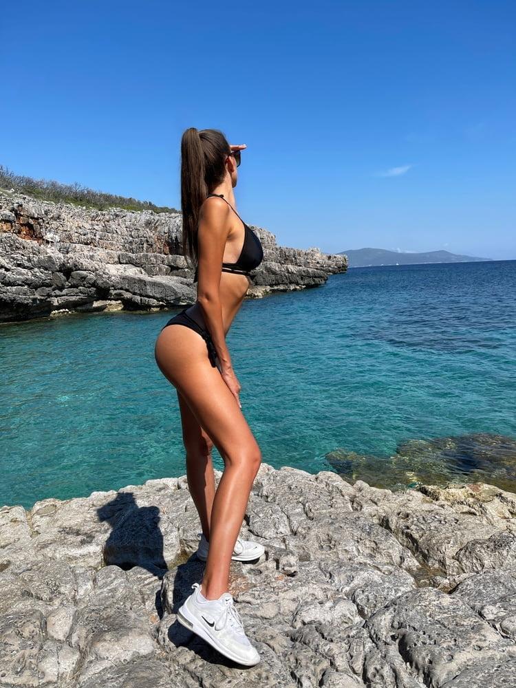 Naked Hot Babe on a Nudist Beach - Yoya Grey